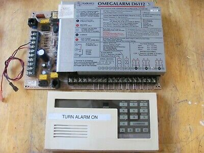Radionics Omegalarm D6112  Replacement Alarm Board with D636A Keypad