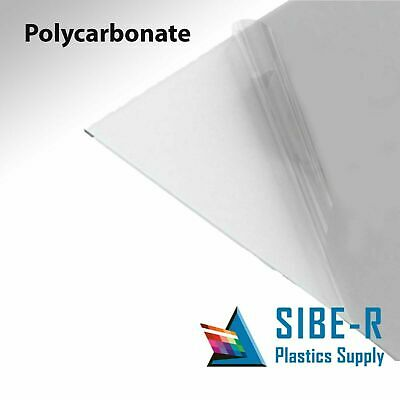 "POLYCARBONATE LEXAN CLEAR PLASTIC SHEET 3//32/"" X 8/"" X 12/"" VACUUM FORMING"