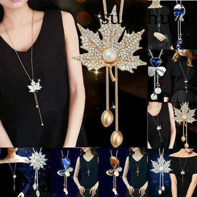 Ladies Long Necklace Pendant Chain Alloy Tassels Sweater Statement Women Jewelry