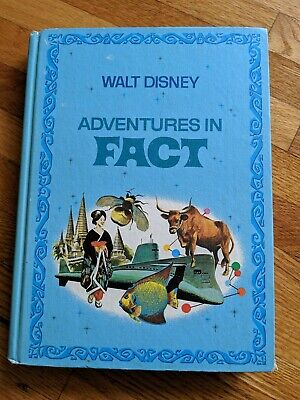 Walt Disney Adventures in Fact Hardcover Story Book, Golden Press, Vintage 1977