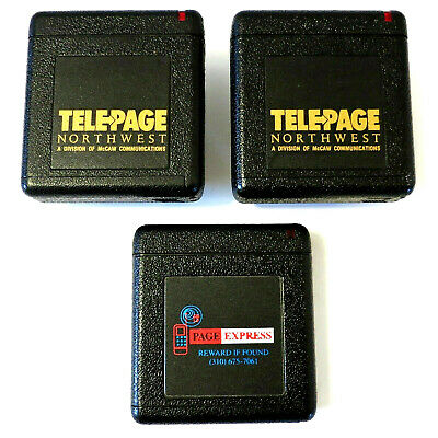 3 Vintage *PAGERS LOT*: 2 x NEC RADIO PAGER R5N4-5E w/ CLIPS + 1 x PAGE EXPRESS