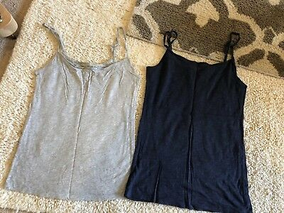 1e834958476d6 MAURICES CAMI FITTED Tank Tops Lot Of 2. Gray and Cream size Small ...