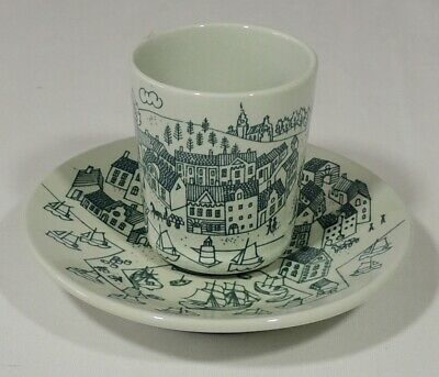 Nymolle Art Faience Denmark Hoyrup Limited Edition 4006 Cup & Saucer Excellent