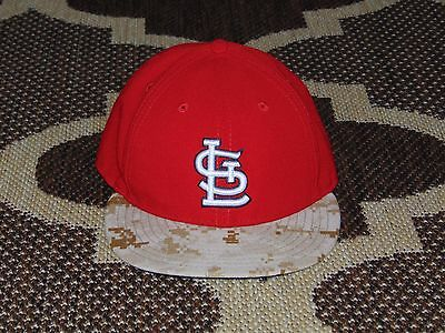 newest collection 3c539 316b6 New Era 59FIFTY St Louis Cardinals On Field MLB Cap Fitted Sz 7 1 2