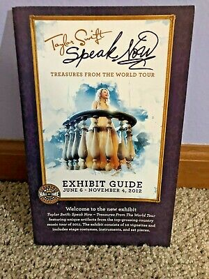 Taylor Swift Speak Now Treasures From Tour Exhibit Guide Hall of Fame RARE