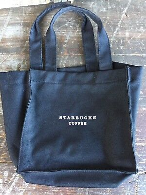 Pre Owned Starbucks Black Canvas Gift Tote Bag, Black & White bag, lunch tote