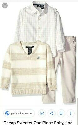 New With Tags Nautica Boys Size 6/9 Month Multi-Color 3 Piece Shirts & Pants $54