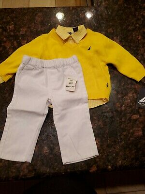 New With Tags Nautica Boys Size 3-6 Month Multi-Color 3 Piece Shirts & Pants $54