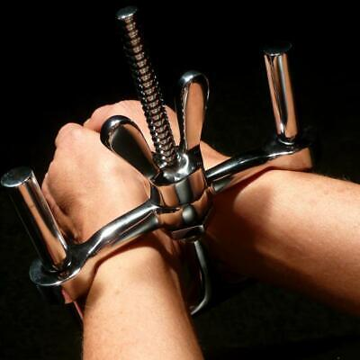 Sexaul-S/M-Handcuffs-Stainless-Steel-Wrist-Ankle-Restraint-Chain-Lock-Roleplay