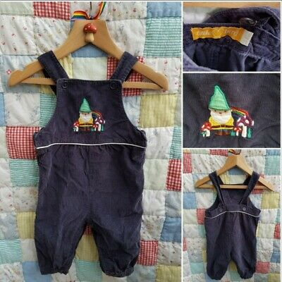 1970aff9d Little Bird by jools Oliver mothercare 3-6 Months Gnome baby cord dungarees