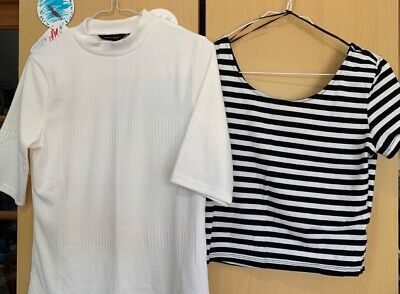 2 Crop tops from H&M and New Look Size M and 12. Brand new, no tags, never worn