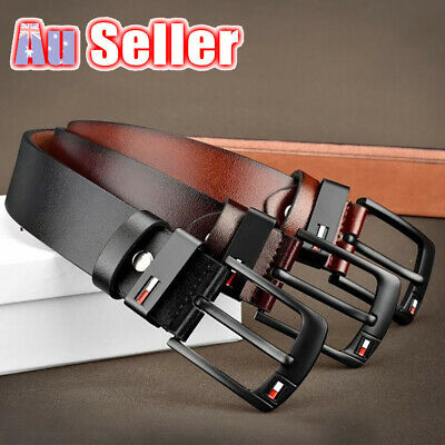 Mens 3 Colors Business Waistband Pin Buckle Belts AU PU Leather Belt Dress Work