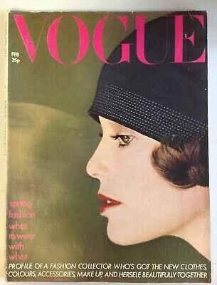 Vogue Magazine February 1974 Cover by Norman Parkinson (C1015)