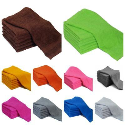 Pack Of 6 & 12 Face Cloths Towels 100% Cotton Flannels Wash Cloths Heavy 500 Gsm