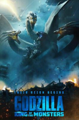 N471 Godzilla King of the Monsters Movie 2019 New 24x36'' Art Poster