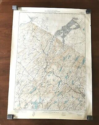 1947 State Of New Jersey Department of Conservation Topographic Map Color 27x37