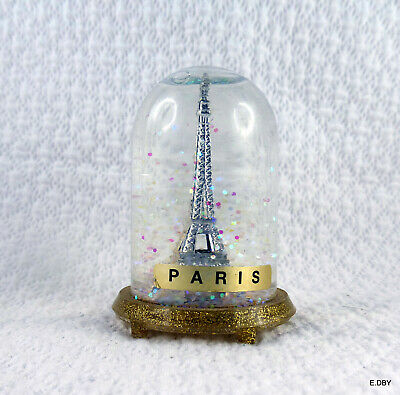 Boule A Neige   Vintage  Paris France Tour Eiffel    ...Snow Globe