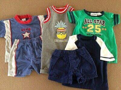 85b3e8eb5 Baby boy 6-piece lot summer clothing size 3-6 months shorts shirts rompers