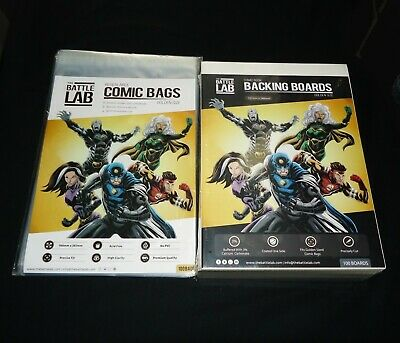 Battle Lab - Golden Age Comic Book Bags and Backing Boards x100