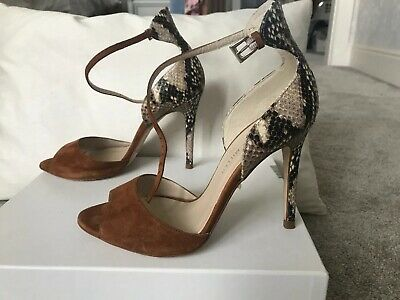 ab63b35f65 Karen Millen Suede And Tan Snake Print Sandal Size 5 Excellent Condition