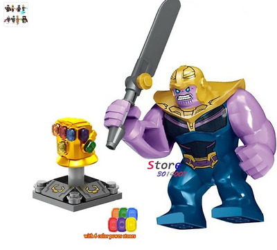RARE LEGO MINIFIGURE THANOS  with infinity gauntlet AVENGERS ENDGAME SET 250297