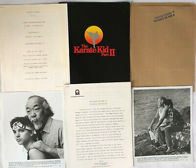 """The Karate Kid Part Ii"" Original Press Kit!! Extremely Rare!! 1986!"