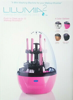 Lilumia 2 Makeup Brush Cleaner Device Matte Black + Cleaning Solution - Bundle