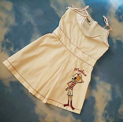 DRESS  child bambina MOSCHINO   age 2-anni 86/92 Made in Italy  Rare