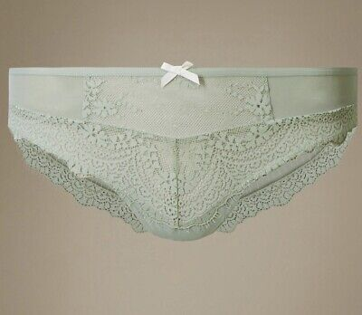 86a7042fb26 M&S BRAZILIAN FLORAL Lace Cotton Thongs/Briefs/Knickers design ...