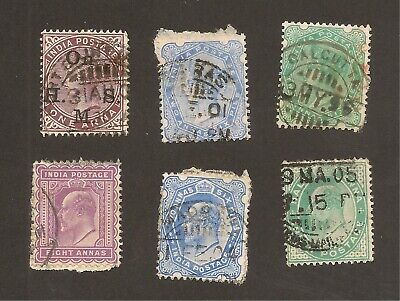British India: Early and Classic Stamps incl. Official / Colonies OLD GB UK Lot