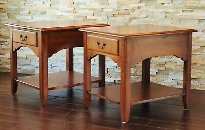 PAIR Ethan Allen Country Crossing End Tables-Ethan Allen Nightstands-17-8413 227