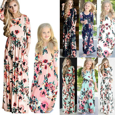 1d8d57ffd72cf Kids Girl Long Sleeve Floral Maxi Boho Dress Infant Outfit Holiday Party  Dresses.