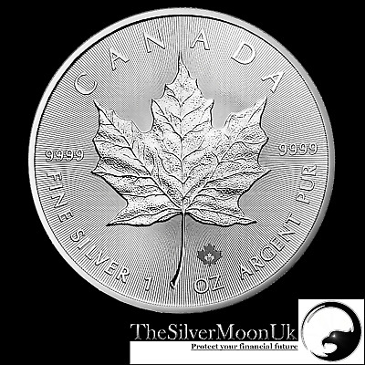 2019 1oz Canadian Silver Maple Leaf 1 ounce Silver Bullion Coin unc: in CAPSULE!