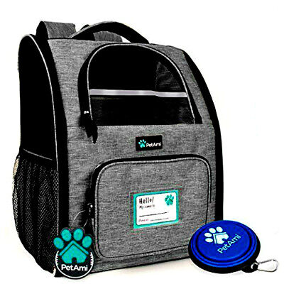 PetAmi Deluxe Pet Carrier Backpack for Small Cats and Dogs, Puppies | Ventilated