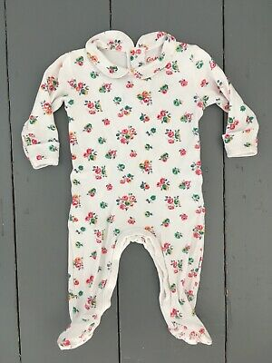bbf6405df CATH KIDSTON Baby Girl Floral Peter Pan Collar Babygrow Sleepsuit 3-6 Months