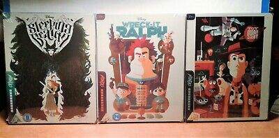 Disney's Sleeping Beauty/Wreck-It Ralph/Toy Story- 3 Mondo X Blu-ray SteelBooks