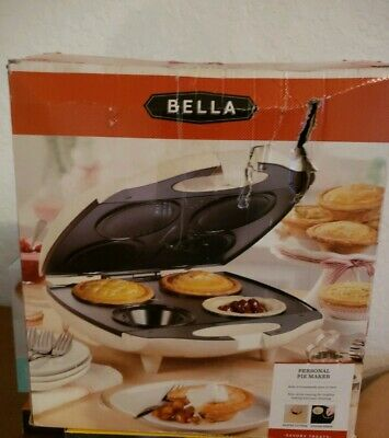 Bella 4 Slot Pie Maker Personal Mini Baking 13563 Sensio NEW