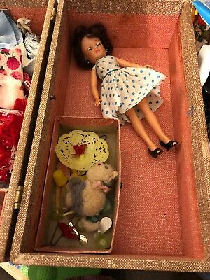 Vintage Doll , Clothes And Closet/ Trunk