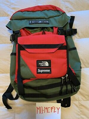 4033803cb SUPREME NORTH FACE Steep Tech Olive Green Red Back Pack Bag TNF Box Logo  Limited
