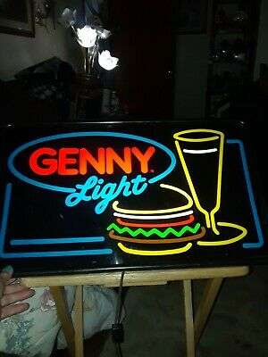 Genesee Light Beer Rarevintage Simulated Neon Lightsign 80s