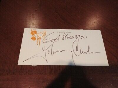 Johnny Cash signed Card With COA