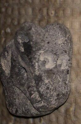 Taino Pre Columbian Grey Stone Anthropomorhpic Pendant Unique Bead Antique