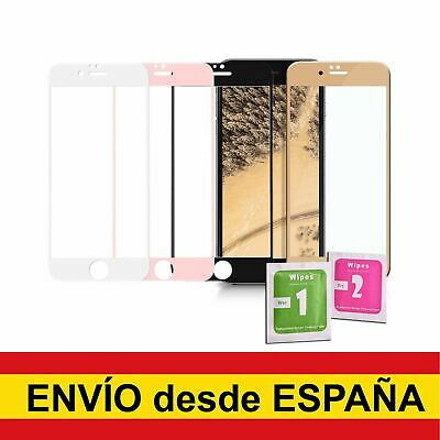 Protector Cristal Templado Completo 4D Para IPHONE 6 6S 7 8 PLUS X XS Colores