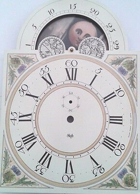 Sligh grandfather clock dial for Hermle 1151-050 chain  movement 280x280x395m