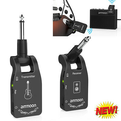 Wireless Guitar System 2.4G Rechargeable 6 Channels Transmitter Receiver O5T2