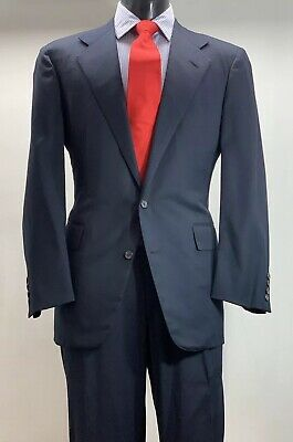 Polo Ralph Lauren Cashmere Wool Navy Blue Suit Men's 44 Made In USA