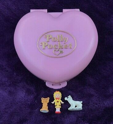 Vintage Polly Pocket 1989 Bluebird COUNTRY COTTAGE Pink Heart ~ 100% COMPLETE