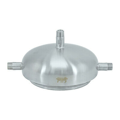 "HFS(R) 304 Stainless Steel 6"" Quick Lock, Jacket Lid (One Hole 1/2"" NPT) (6"")"