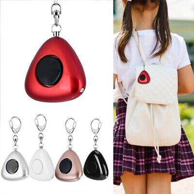 Electronic Personal Safety Triangle Loud Personal Alarm Anti-Wolf Keychain 120db