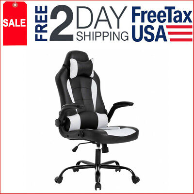 Big and tall High Back support Ergonomic Leather Gaming Racing Style Chair desk
